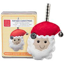 Buy Sew Your Own Christmas Decoration Kit, Father Christmas Online at johnlewis.com