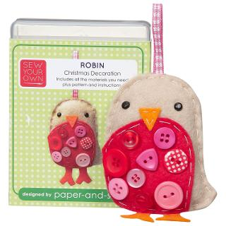 Buy Sew Your Own Christmas Decoration Kit, Robin Online at johnlewis.com