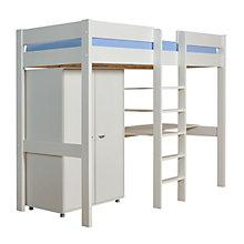 Buy Stompa Uno Plus High Sleeper Bedstead with Children's Wardrobe and Desk, White Online at johnlewis.com