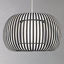 Buy John Lewis Harmony Ribbon Pendant, Black, Small Online at johnlewis.com