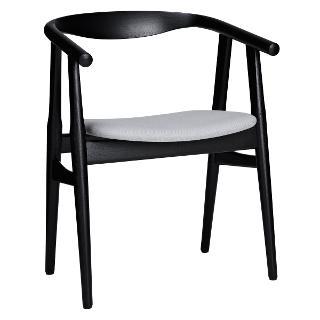 "Buy Hans Wegner The ""U"" Chair, Black/Fabric Online at johnlewis.com"