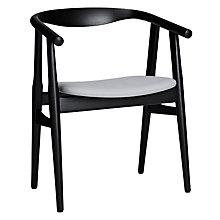 "Buy Hans Wegner The ""U"" Chair, Black/Fabric Online at johnlewis.com"