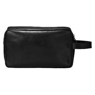 Buy Smith & Canova Double Zip Wash Bag, Black Online at johnlewis.com