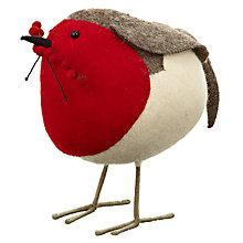 Buy Scandi-chic Giant Felt Robin with Berries Decoration Online at johnlewis.com
