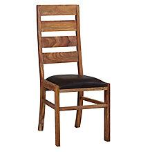 Buy John Lewis Samara Ladderback Leather Dining Chair Online at johnlewis.com