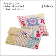 Buy John Lewis Make Your Own Patchwork Scented Cushion and Purse Kit Online at johnlewis.com