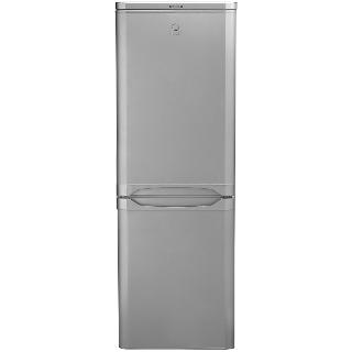 Buy Indesit NCAA55S Fridge Freezer, A+ Rated, 55cm Wide, Silver Online at johnlewis.com