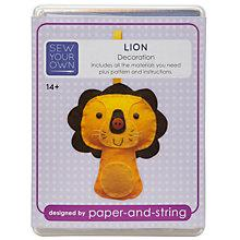 Buy Paper and String Sew Your Own Mini Lion Kit Online at johnlewis.com