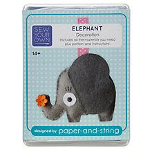 Buy Paper and String Sew Your Own Mini Elephant Kit Online at johnlewis.com