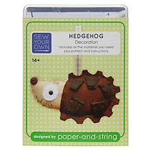Buy Paper and String Sew Your Own Hedgehog Mini Kit Online at johnlewis.com