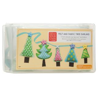 Buy Paper and String Sew Your Own Felt and Fabric Christmas Tree Garland Kit Online at johnlewis.com