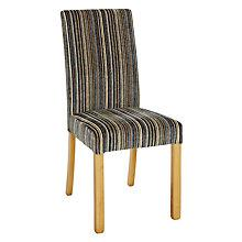 Buy John Lewis Orly Upholstered 6 Chairs, Aubergine Matisse Stripe Online at johnlewis.com