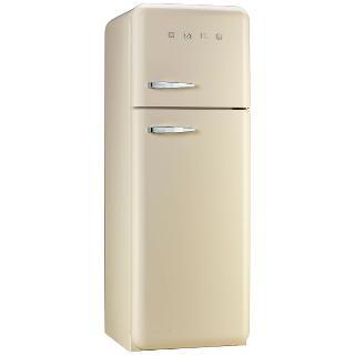 Buy Smeg FAB30RFC Fridge Freezer, A++ Energy Rating, 60cm Wide, Right-Hand Hinge, Cream Online at johnlewis.com