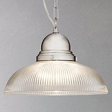 Buy John Lewis George Ribbed Glass Ceiling Pendant Online at johnlewis.com