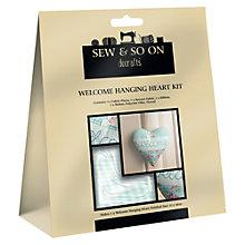 Buy Docrafts Sew and So On Welcome Hanging Heart Kit Online at johnlewis.com
