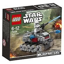 Buy LEGO Star Wars Microfighters Clone Turbo Tank Online at johnlewis.com