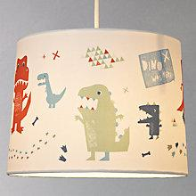 Buy little home at John Lewis Easy-to-fit Dino Was Here Ceiling Pendant Shade Online at johnlewis.com