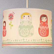 Buy little home at John Lewis Easy-to-fit Dots & Dolls Ceiling Pendant Shade Online at johnlewis.com