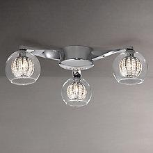 Buy John Lewis Claire Beaded Semi Flush Ceiling Light, 3 Arm Online at johnlewis.com