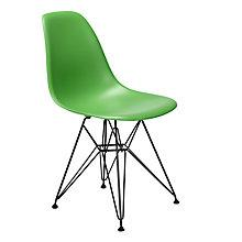Buy Vitra DSR Eames Plastic Dining Chair, Grass Green Online at johnlewis.com