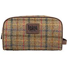 Buy Barbour Tweed Wool Washbag, Olive Online at johnlewis.com