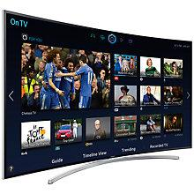 "Buy Samsung UE55H8000 Curved LED HD 1080p 3D Smart TV, 55"" with Freesat/Freeview HD & 2x 3D Glasses Online at johnlewis.com"