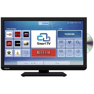 "Buy Toshiba 24D343 LED HD Ready Smart TV/DVD Combi, Wi-Fi, 24"" with Freeview Online at johnlewis.com"