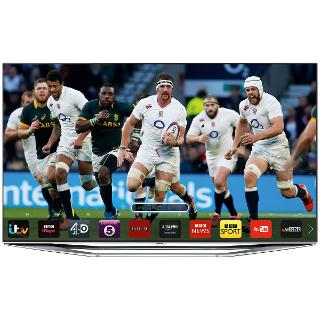 """Buy Samsung UE55H7000 LED HD 1080p 3D Smart TV, 55"""" with Freeview/Freesat HD, Voice Control and 2x 3D Glasses Online at johnlewis.com"""