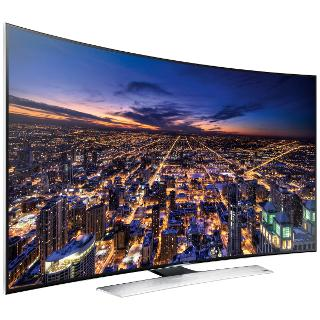 """Buy Samsung UE55HU8500 Curved 4K Ultra HD 3D Smart TV, 55"""" with Freeview/Freesat HD and 2x 3D Glasses Online at johnlewis.com"""