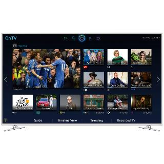 """Buy Samsung UE40H6410 LED HD 1080p 3D Smart TV, 40"""" with Freeview HD, White Online at johnlewis.com"""