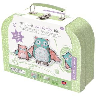Buy The Little Experience Stitch It Owl Family Sewing Kit Online at johnlewis.com