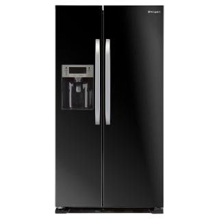 Buy Hotpoint SXBD925FWD American Style Fridge Freezer, Black Online at johnlewis.com