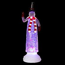 Buy John Lewis Colour-Changing Water Snowman Light Online at johnlewis.com