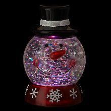 Buy John Lewis Morphing Snowman Snow Globe Online at johnlewis.com