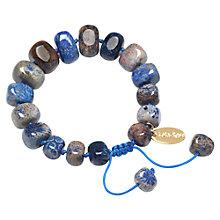 Buy Lola Rose Fern Fossil Jasper Bracelet, Blue Online at johnlewis.com