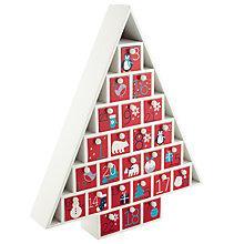 Buy John Lewis Wooden Advent Calendar, White/Red Online at johnlewis.com