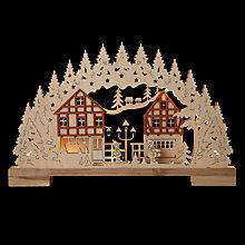 Buy John Lewis Pre Lit Village Scene Online at johnlewis.com
