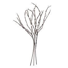 Buy John Lewis Pussy Willow Pre-Lit Stems, Set of 3, Soft White Online at johnlewis.com