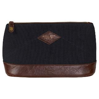 Buy Gentlemen's Hardware Wash Bag, Navy/Tan Online at johnlewis.com