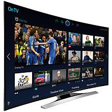 "Buy Samsung UE55HU8200 Curved 4K Ultra HD 3D Smart TV, 55"" with Freeview/Freesat HD and 2x 3D Glasses Online at johnlewis.com"