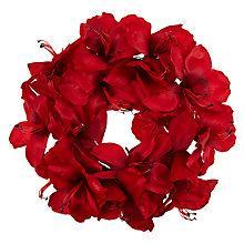 Buy John Lewis Vibrant Vintage Amaryllis Wreath, Red Online at johnlewis.com