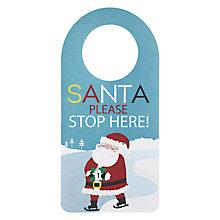 Buy John Lewis Santa Door Hanger Online at johnlewis.com