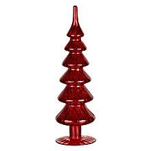 Buy John Lewis Mercurised Glass Tree, Small, Red Online at johnlewis.com
