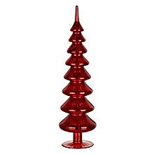 Buy John Lewis Mercurised Glass Tree, Red Online at johnlewis.com