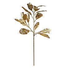 Buy John Lewis Magnolia Leaf Stem, Gold Online at johnlewis.com