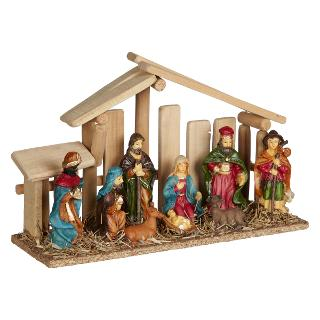 Buy John Lewis Wooden Nativity Scene, Small Online at johnlewis.com
