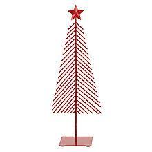 Buy John Lewis Metal Christmas Tree, Red Online at johnlewis.com