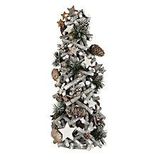 Buy John Lewis Croft Collection Washed Wooden Pine Cone Christmas Tree Online at johnlewis.com
