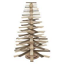 Buy John Lewis Washed Wood Swivel Christmas Tree Online at johnlewis.com
