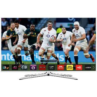 "Buy Samsung UE48H5510 LED HD 1080p Smart TV, 48"" with Freeview HD, White Online at johnlewis.com"